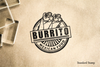 Burrito Seal Rubber Stamp