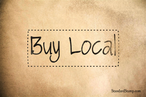 Buy Local Rubber Stamp
