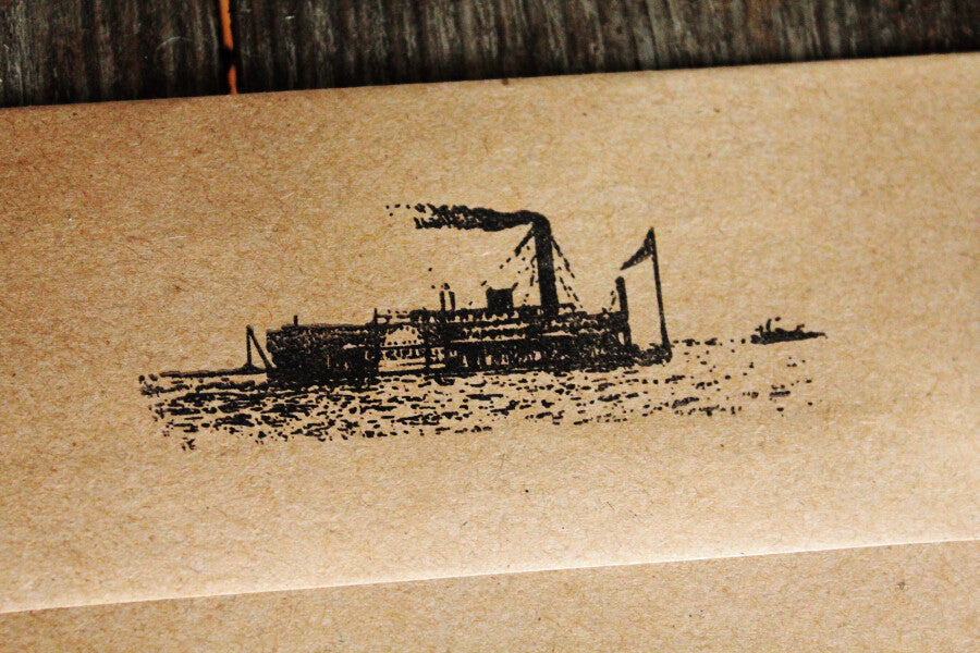 River Boat Queen 1 x 3 Inch Stamp