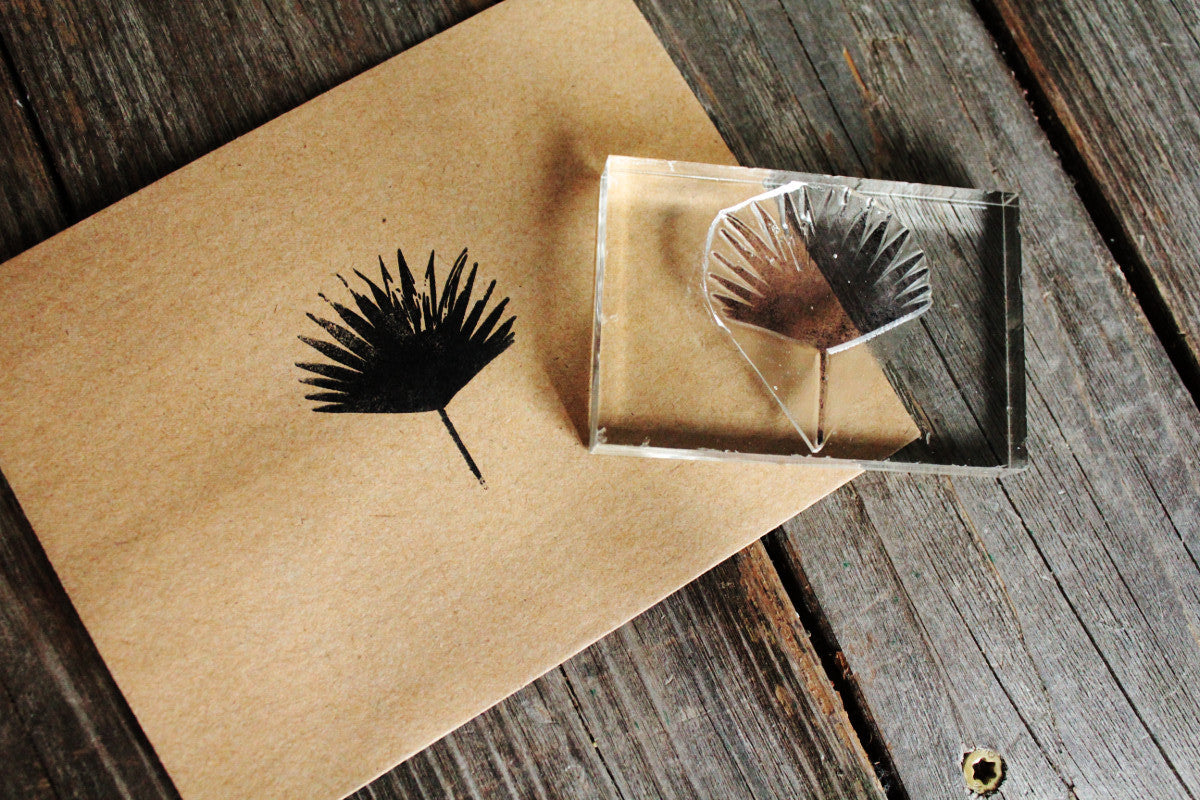 Palmetto Frond 2 x 2 Inch Stamp