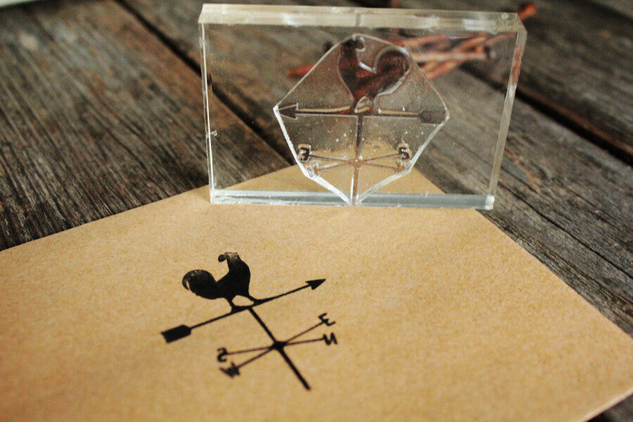 Weathervane 2 x 2 Inch Stamp