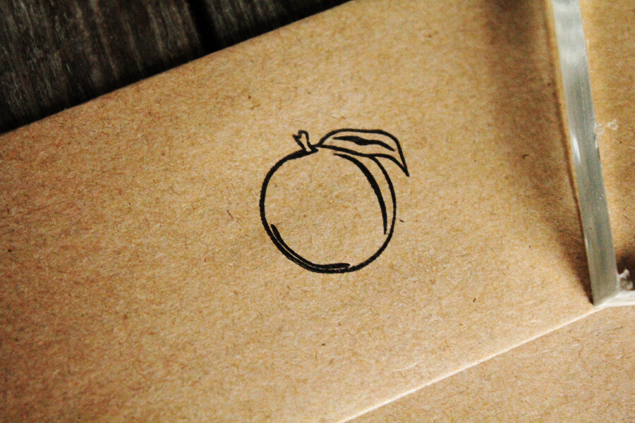Georgia Peach 1 x 1 Inch Stamp