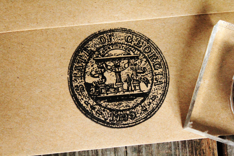 Georgia Seal 2 x 2 Inch Stamp