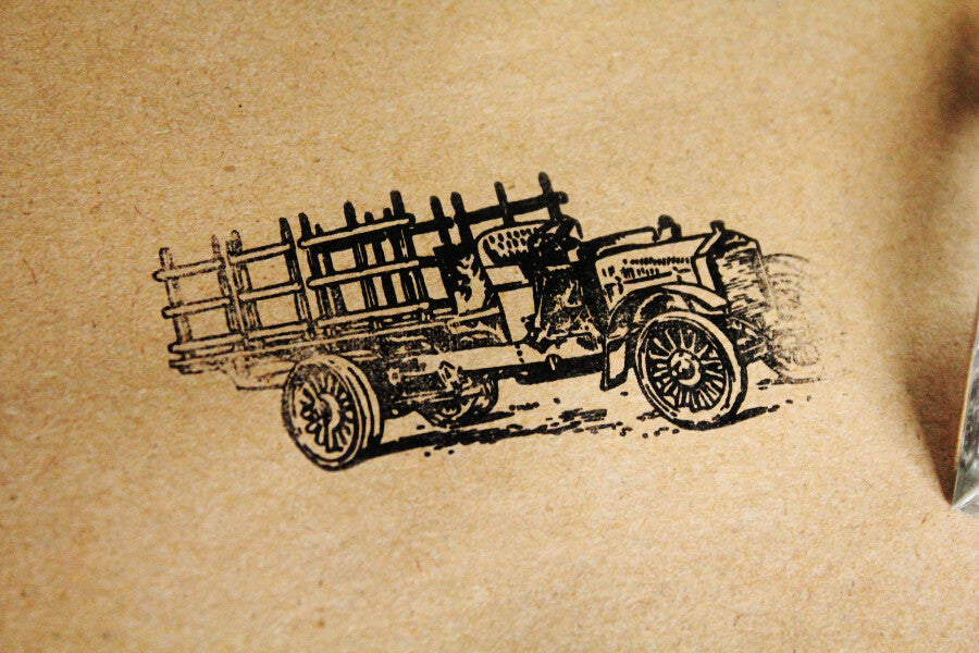Truck, Classic Pick-Up, 2 x 3 Inch Stamp