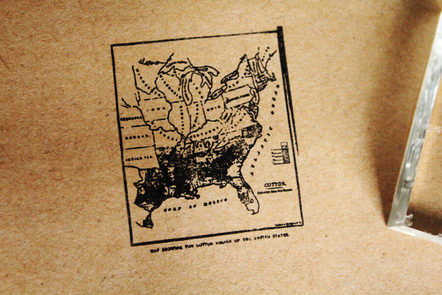 Map of Southeastern U.S. 2 x 2 Inch Stamp