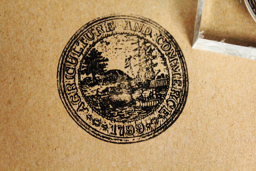 Agriculture & Commerce Seal 2 x 2 Inch Stamp