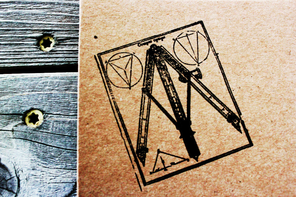 Protractor Architectural 2 x 2 Inch Stamp