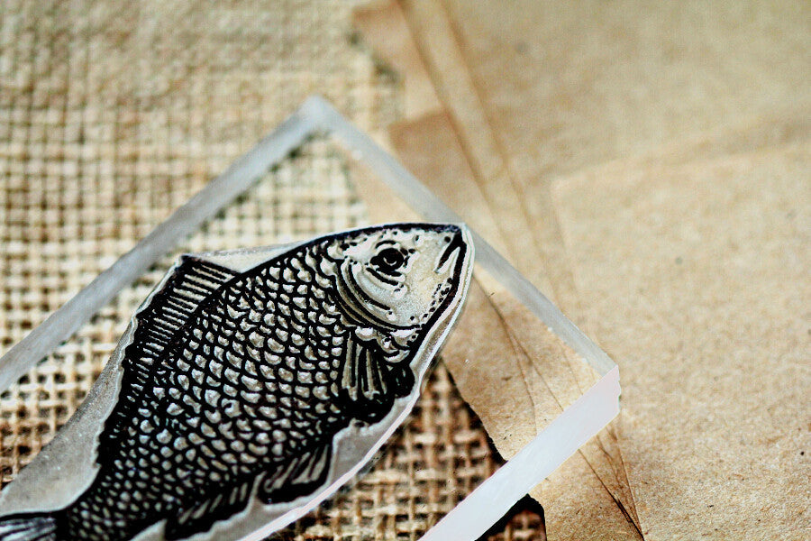 "Fish Scaly 2""x3"" Stamp"