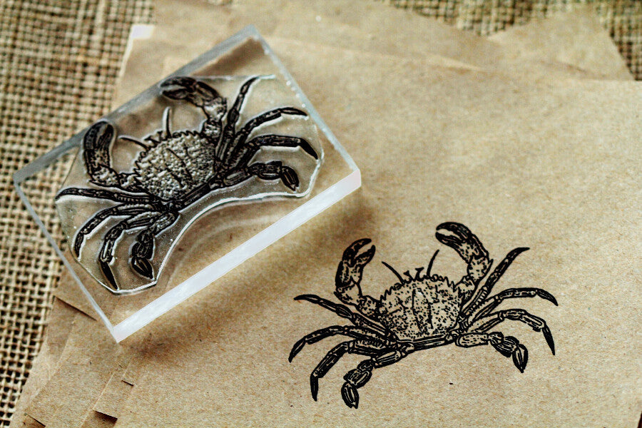 "Crab Top View 2""x3"" Stamp"