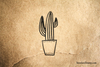 Cactus in Spotted Planter Rubber Stamp