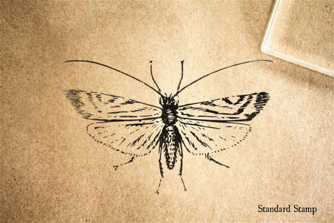 Caddis Fly Rubber Stamp