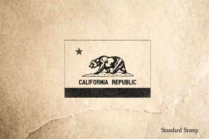 California Flag Rubber Stamp