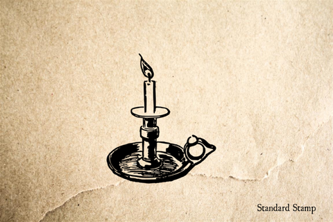 Candlestick Rubber Stamp