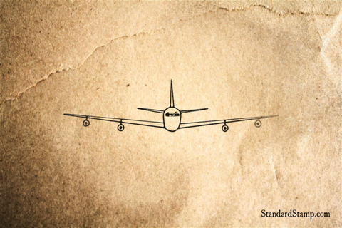 Cantilever Wings Rubber Stamp