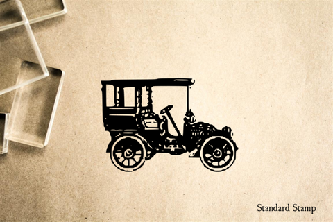 Boxy Car Rubber Stamp