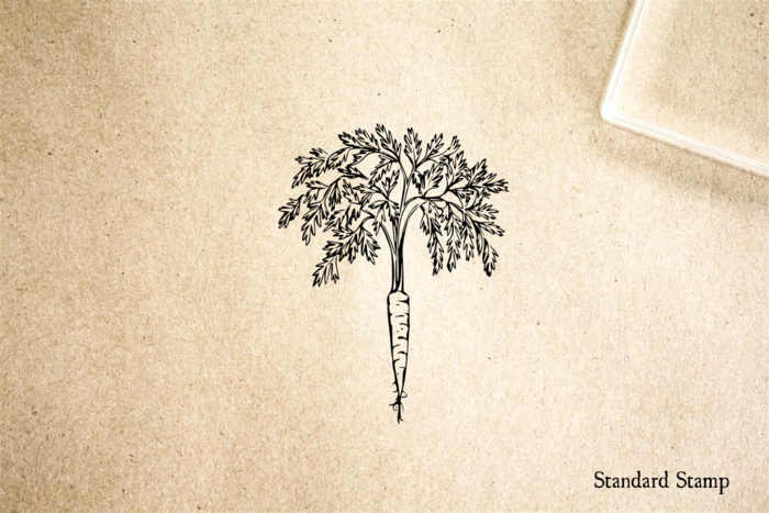 Carrot Rubber Stamp
