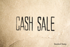 Cash Sale Rubber Stamp