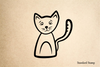 Cat Felix Rubber Stamp