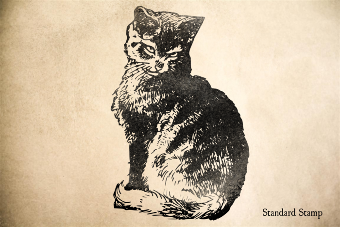 Cat with Attitude Rubber Stamp