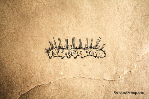 Caterpiller Rubber Stamp