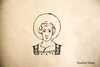 Catholic Saint Rubber Stamp