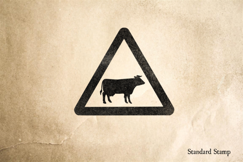 Cattle Sign Rubber Stamp