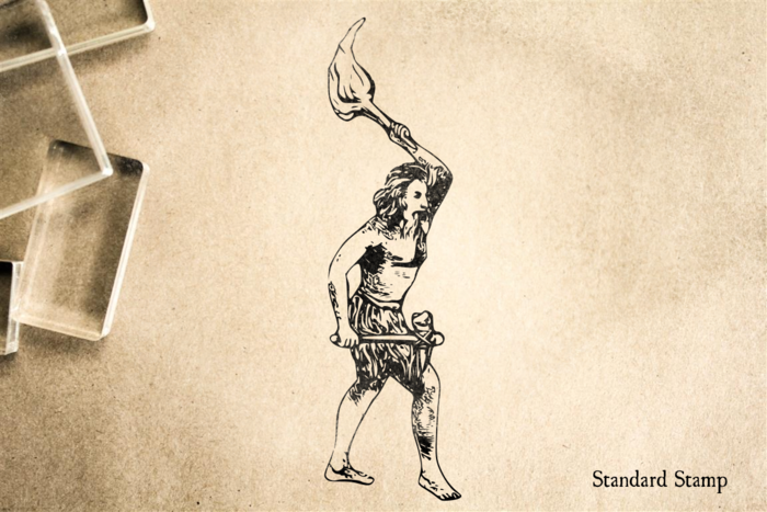 Caveman Rubber Stamp