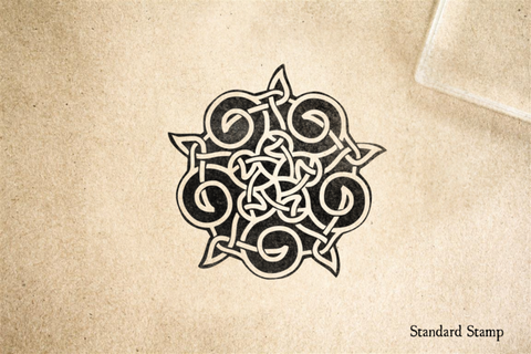 Celtic Five Point Knot Rubber Stamp