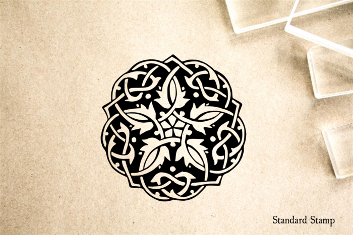 Celtic Knot Cirlce Rubber Stamp Mounted Wood Block Art Stamp