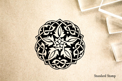 Celtic Knot Carved Rubber Stamp