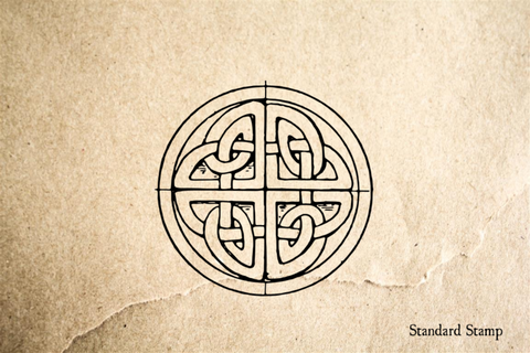 Celtic Knot Quarters Rubber Stamp