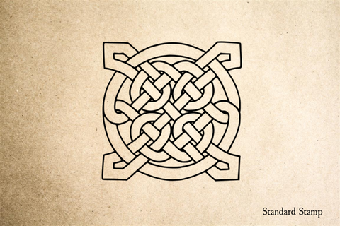 Celtic Knot Square Rubber Stamp