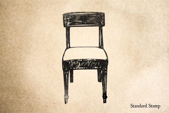 Chair Rubber Stamp