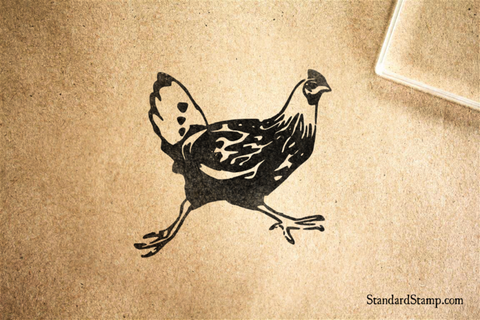 Chicken Run Rubber Stamp