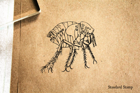 Chigoe Flea Rubber Stamp