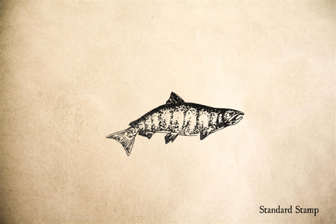 Chinook Salmon Rubber Stamp