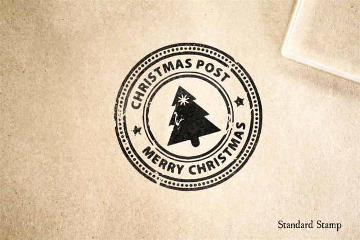 Christmas Post Rubber Stamp
