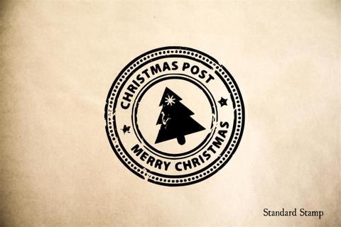Christmas Seal Rubber Stamp
