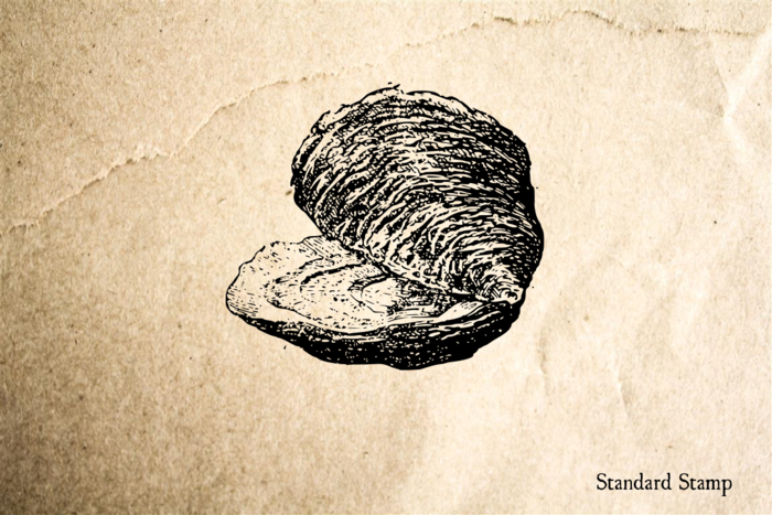 Clam Rubber Stamp
