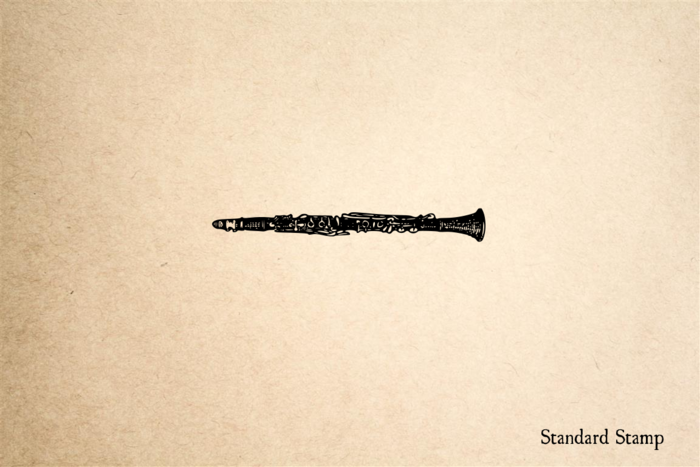 Clarinet Rubber Stamp