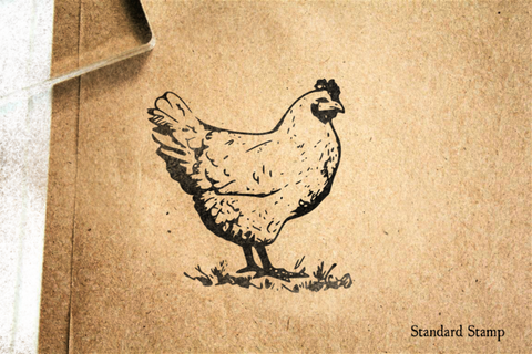 Classic Chicken Rubber Stamp