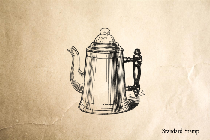 Classic Coffeepot Rubber Stamp