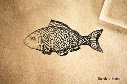 Classic Fish Rubber Stamp