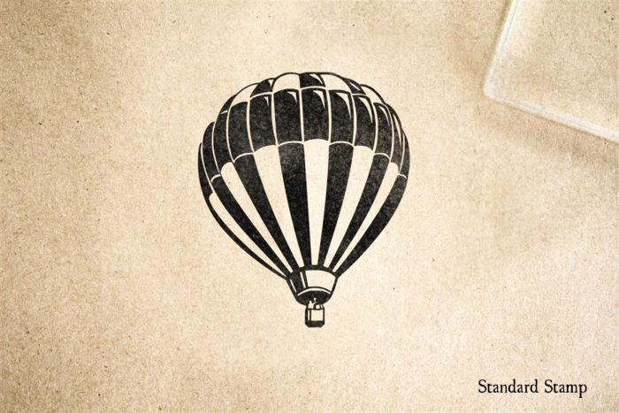 Classic Hot Air Balloon Rubber Stamp