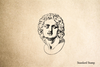 Classic Sculpture Face Rubber Stamp