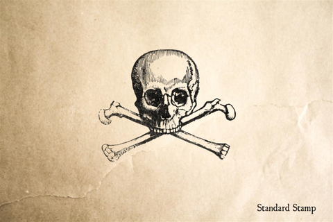 Classic Skull and Crossbones Rubber Stamp