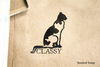 Classy Cat Rubber Stamp
