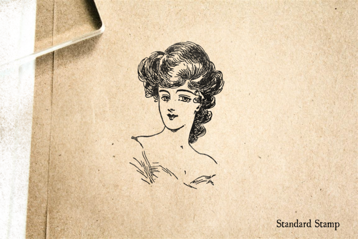 Classy Victorian Woman Rubber Stamp
