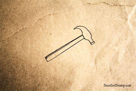 Claw Hammer Rubber Stamp