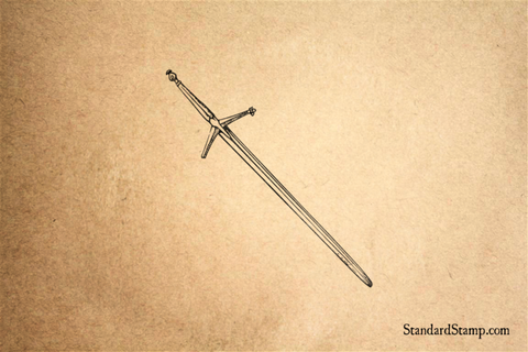 Claymore Sword Rubber Stamp